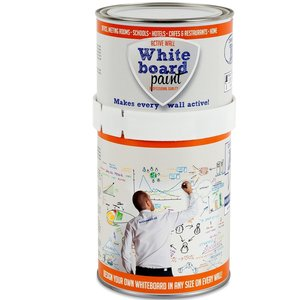 Whiteboardverf Active Wall transparant glans inhoud 1,0 ltr.
