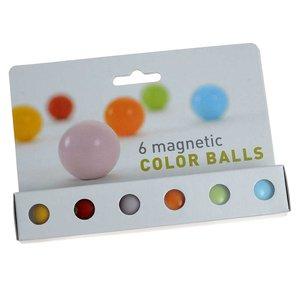 Gekleurde magneetballen - set van 6 stuks