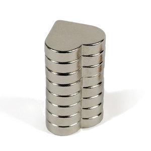Zeer sterke neodymium Hartjes magneten - set van 8 stuks