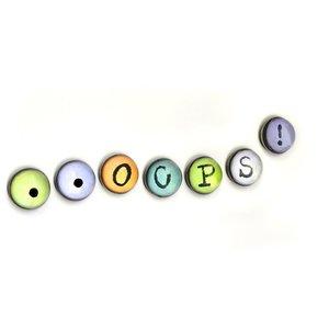 ...OOPS! magneten van glas - set van 7 stuks