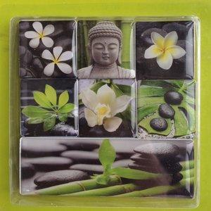 Zen collage magneten neodymium - set van 7 stuks