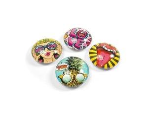 Pop Art magneet Eye - set van 4 glazen pop magneten