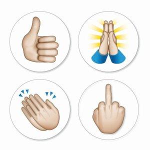 Magneet Emoji - Hands - set van 4 magneten