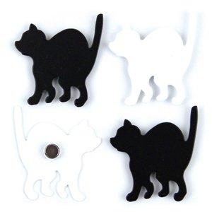 Magneet Kitty - set van 4 leuke poezen magneten
