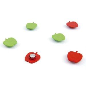 Appel magneetjes - 6 stuks van metaal