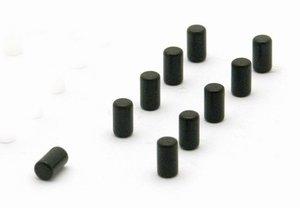 Zwarte metalen cilindermagneten Magnum - 10 stuks