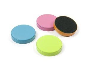 Vrolijke ronde schijfmagneten - 4 stuks per set
