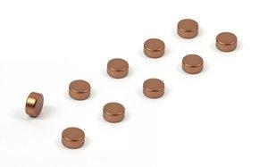 Steely magneetjes van koper - set van 10
