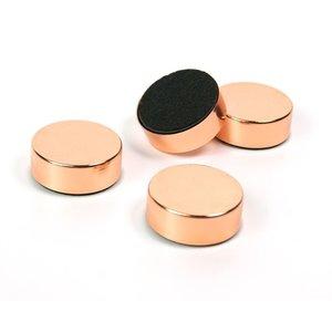 Disk magneten - copper - 4 sterke koperen schijfmagneten