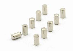 Magneet Magnum - set van 10 zilverkleurige RVS magneetjes