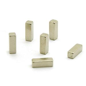Staaf magneetjes Magic Stick - set van 6 extra sterke RVS magneten