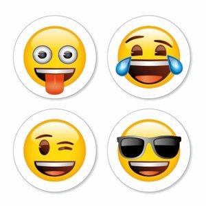 Magneet Emoji - Mix - set van 4 verschillende magneten