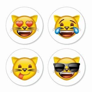 Magneet Emoji - Cats - set van 4 verschillende magneten