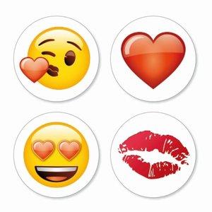 Magneet Emoji - Love - set van 4 stuks