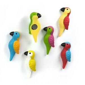 Trendform papegaai magneten Parrot - set van 6 stuks