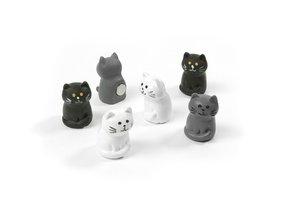 Poezen magneetjes Cat - set van 6 verschillende magneten