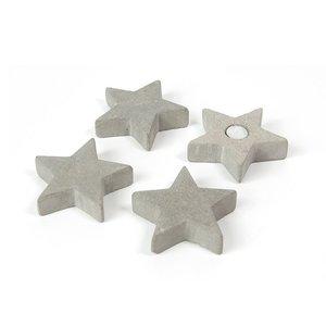 Ster magneten Concrete - Star - set  van 4 magneetsterren