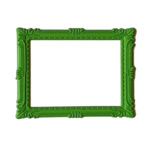 Magnetisch fotoframe kleur groen - klassiek