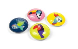 Magneet Eye - Paradisebirds - set van 4 glazen magneten