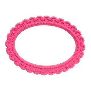 Magnetisch fotoframe kleur roze - ovaal
