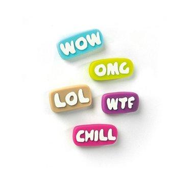 Chill magneten in leuke kleuren - set van 5 stuks