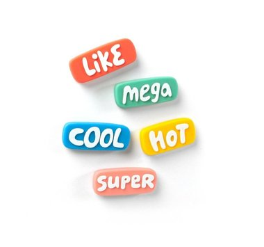 Like magneten in leuke kleuren - set van 5 stuks