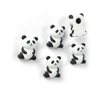 Leuke panda magneten - set van 5 stuks
