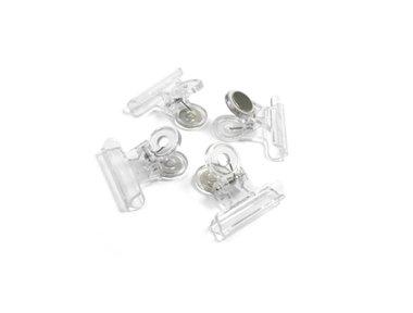 Magneetklem transparant - set van 4 stuks