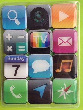 Neodymium App magneten - set van 12 stuks