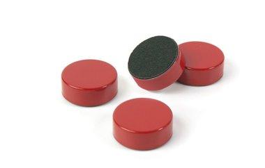 Metalen ronde magneten Disk - set van 4 rode magneten