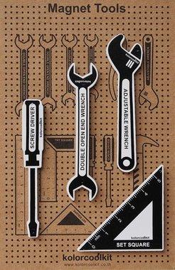 Magneetset Tools - 4 metalen gereedschap magneten
