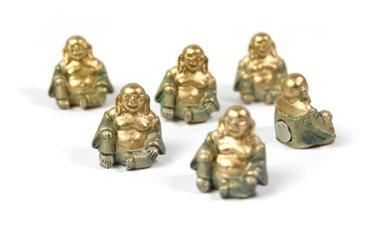 Magneet Buddha - set van 6 leuke boeddha magneten