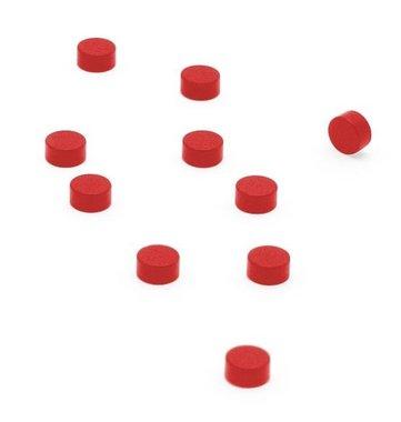 Magneet Steely - set van 10 stuks - rood