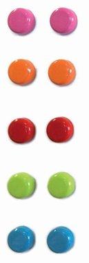 Metalen magneetjes Steely - set van 10 gekleurde magneetjes