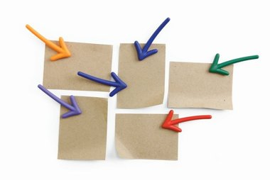 Pijl magneten - set van 6 stuks