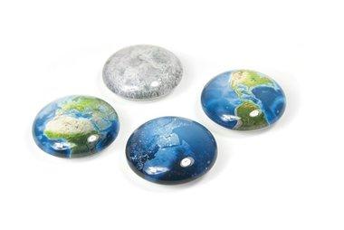 Magneet Eye - Planet - set van 4 glazen magneten