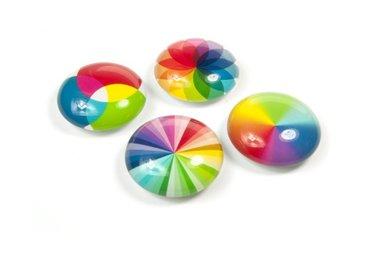 Magneet Eye - Spectrum - set van 4 glazen magneten