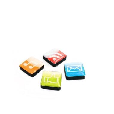 Magneet Icon Apps - set van 4 stuks