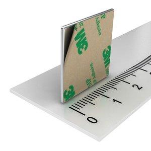 zelfklevende blokmagneet neodymium 20x20x1 mm