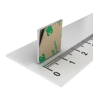 zelfklevende blokmagneet neodymium 15x15x1 mm