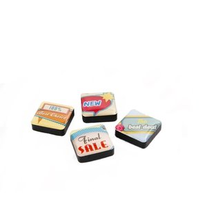 Magneet Icon Retro Signs - set van 4 stuks