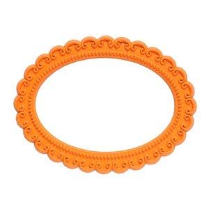 ovaal oranje magnetisch fotoframe