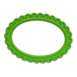 ovaal groen magnetisch fotoframe