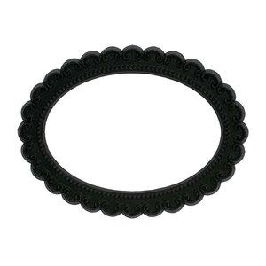 ovaal zwart magnetisch fotoframe
